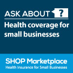 SHOP health coverage badge