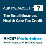 SHOP health care tax credit badge