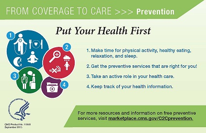 Put Your Health First postcard