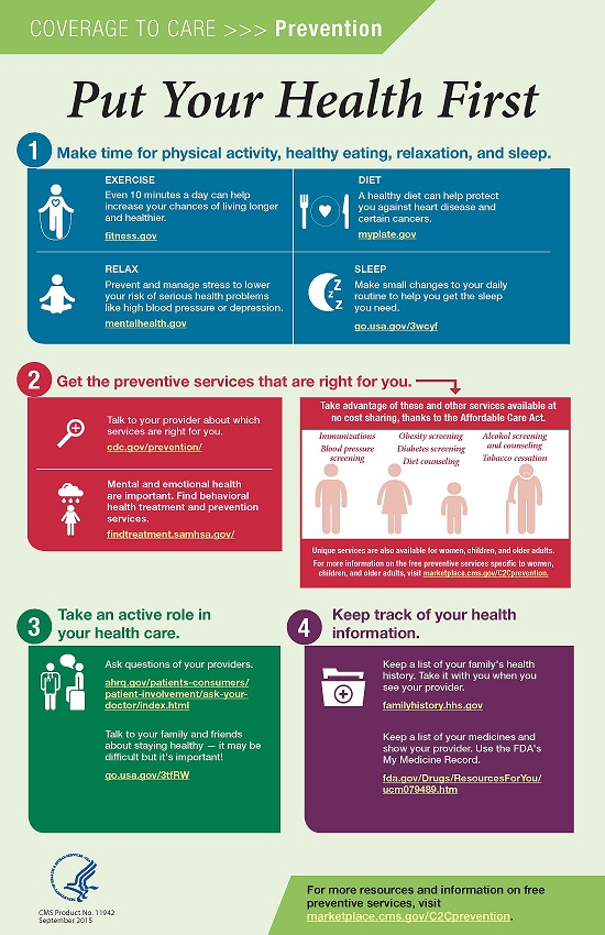 Put Your Health First poster
